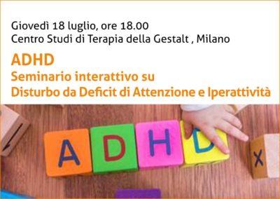 Seminario su ADHD a Milano