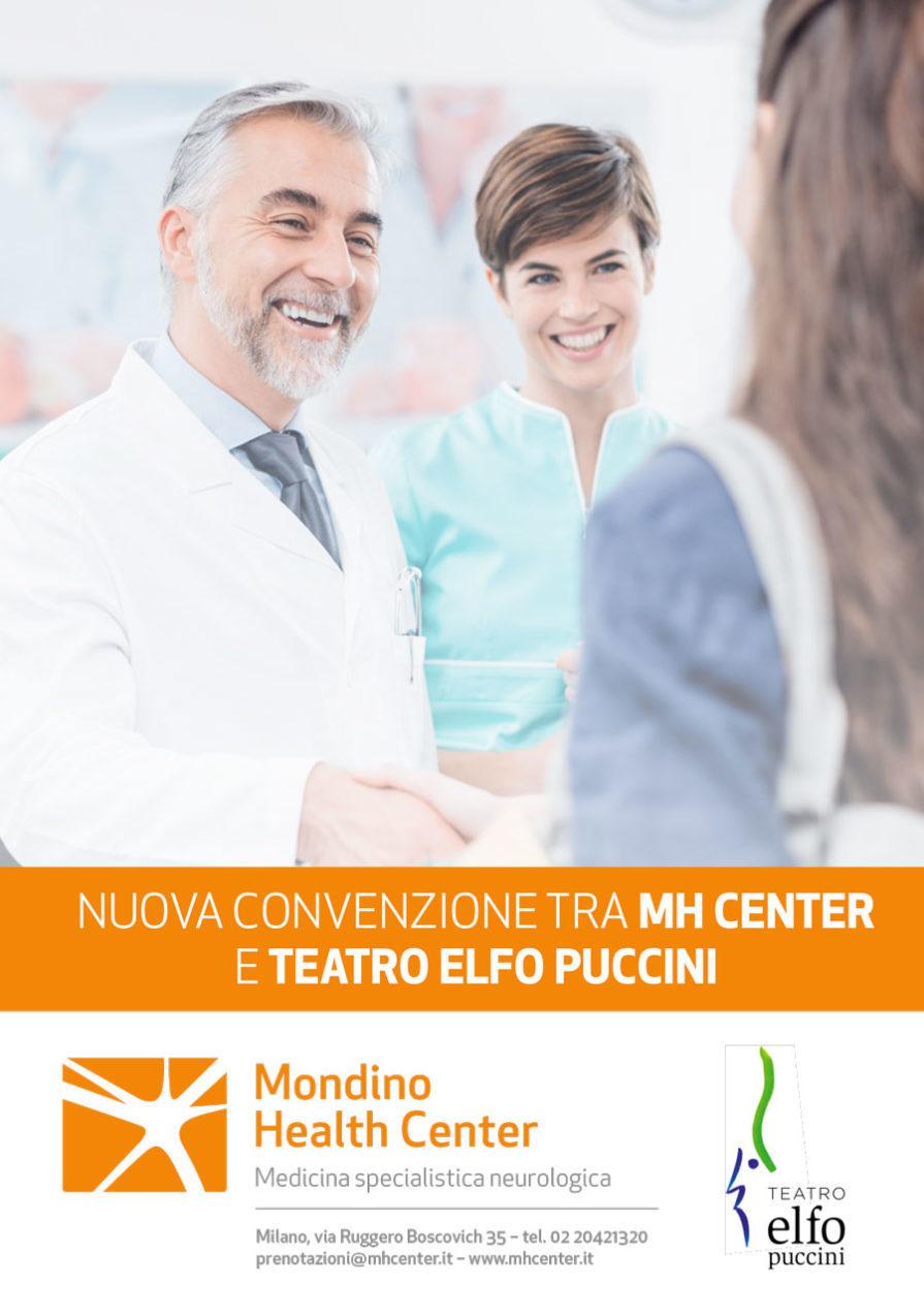 Locandina convenzione Mh Center e Teatro Elfo Puccini